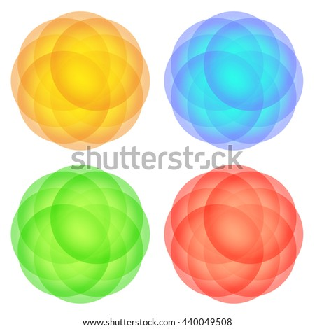 colorful translucent spheres - stock vector