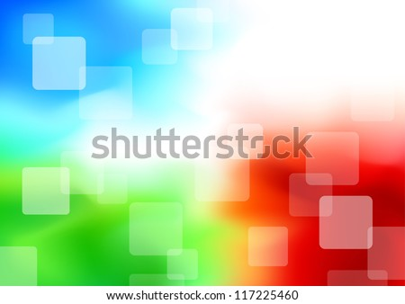 Colorful transparent background - synergy. Vector illustration - stock vector