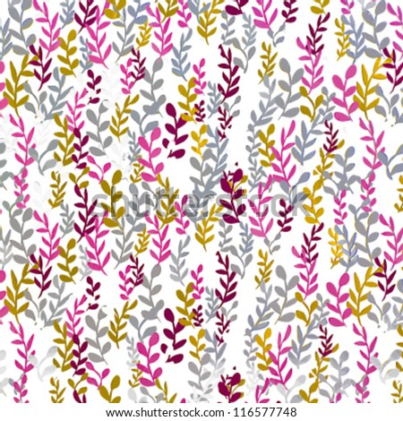 Colorful tree branches vector - stock vector