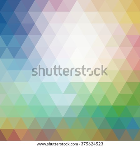 Colorful Triangle abstract backgrond