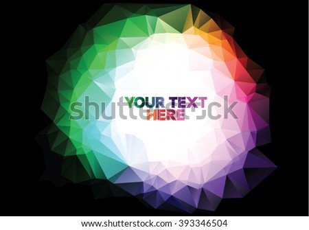 Colorful triangle design with place for your text - stock vector