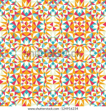 Colorful triangle texture seamless pattern background - stock vector