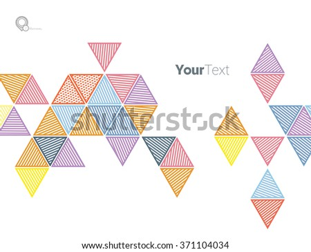 Colorful Triangle Textures Elements Set For Your Magazine Banner - stock vector