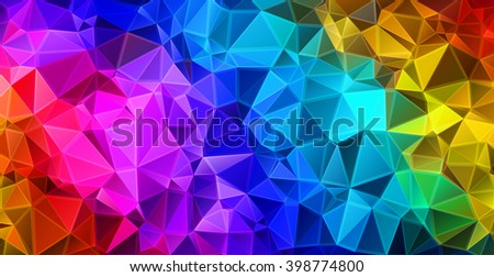 Colorful triangular abstract background. EPS 10 Vector illustration.