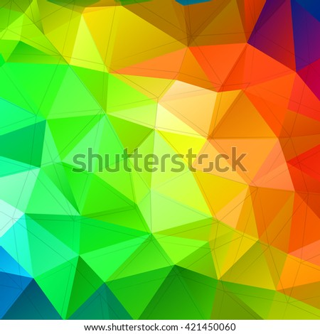 Colorful triangular abstract background. Trendy vector illustration.  - stock vector