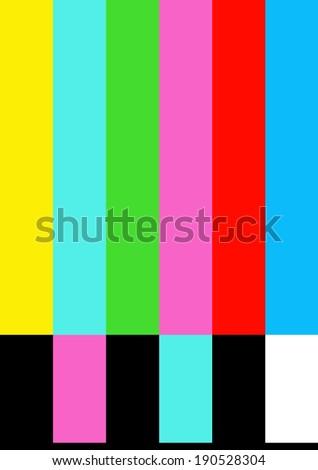 Colorful, tv no signal monoscope,vector  - stock vector