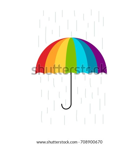 Colorful umbrella for your design