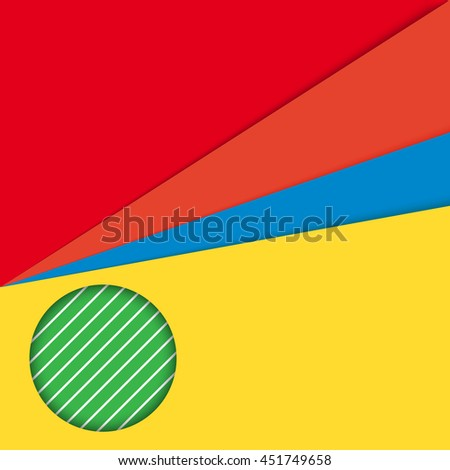 Colorful unusual modern material design vector background illustration.