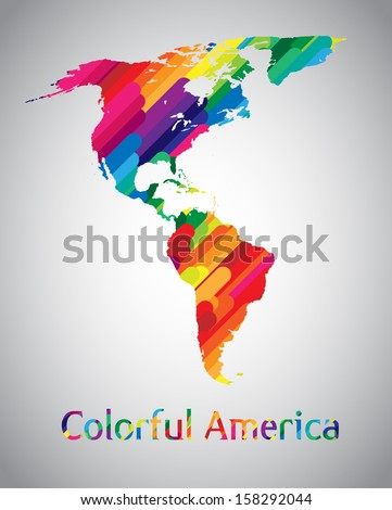 Colorful vector America - stock vector
