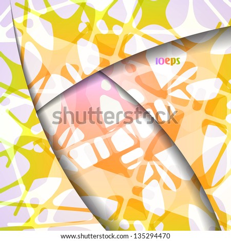 Colorful vector background, abstract style illustration eps10 - stock vector