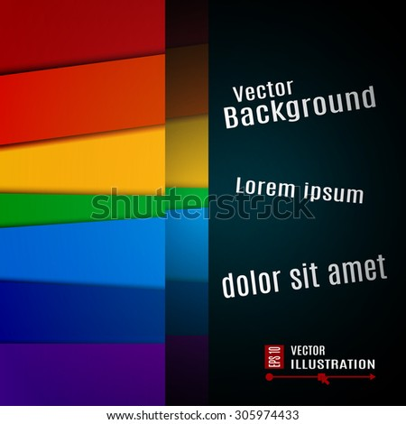 Colorful vector background for business presentation.