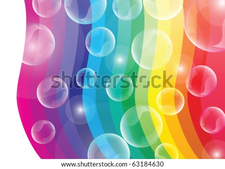 Colorful vector background with bubbles. - stock vector