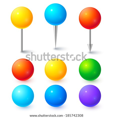Colorful vector ball map pickers - stock vector