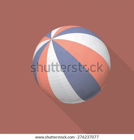 Colorful vector ball without gradient shadow