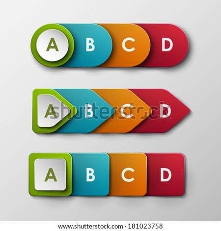 Colorful vector banners set  - stock vector