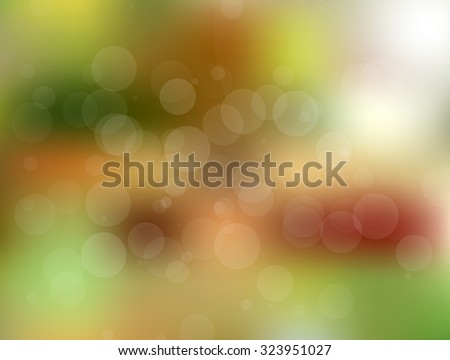 Colorful vector blurred circle abstract background with bokeh light circles
