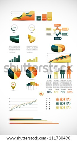 Colorful vector chart - stock vector
