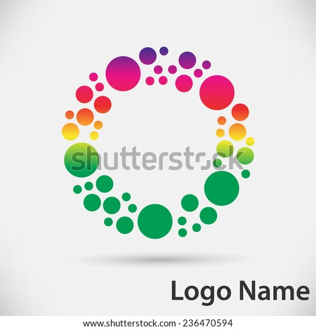 Colorful Vector Circle Logo Design Template. Vector illustration.