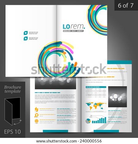Colorful Vector Creative Brochure Template Design Stock Vector Hd