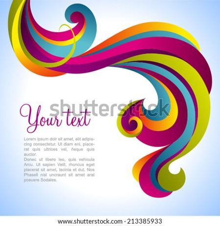 Colorful vector decorative