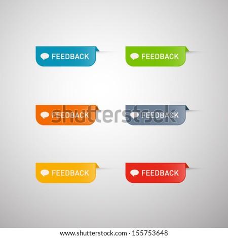 Colorful Vector Feedback Icons  - stock vector