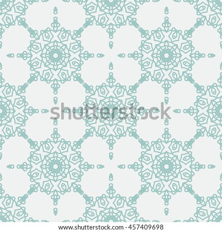 Colorful vector Geometric designs floral simple pattern. Islamic Seamless Pattern - stock vector