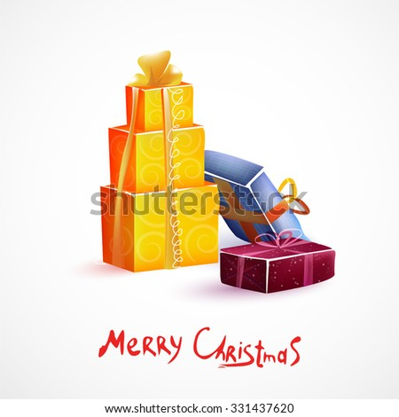 Colorful vector gift boxes. Merry Christmas. - stock vector