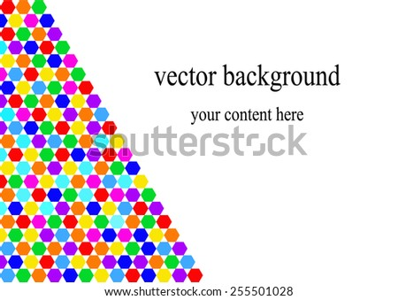 Colorful Vector illustration template background