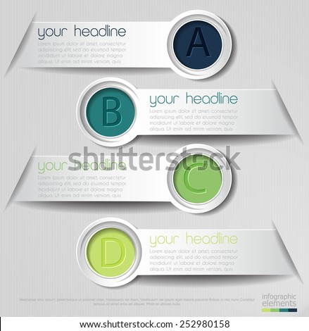 Colorful vector infographics elements design - stock vector