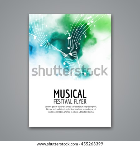 Colorful Vector Music Festival Concert Template Stock Vector Hd