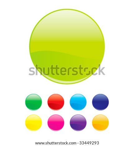 Colorful vector orbs - stock vector