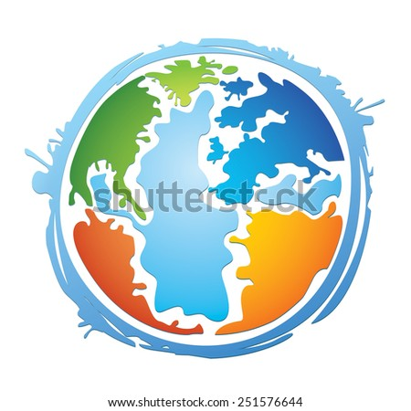Colorful Vector Planet - stock vector