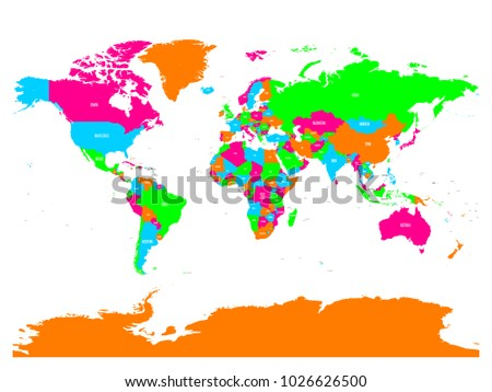 Vector clip art map atlas world stock vector 18458677 shutterstock colorful vector political map of world with country names and capital cities gumiabroncs Gallery