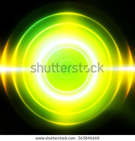 colorful vector rings - stock vector