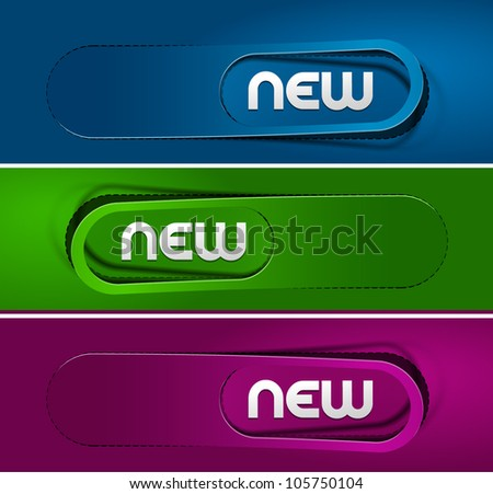 Colorful Vector Sample stickers for color various options - stock vector