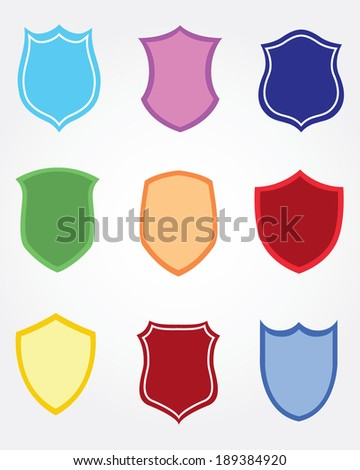 Colorful Vector Shield Set
