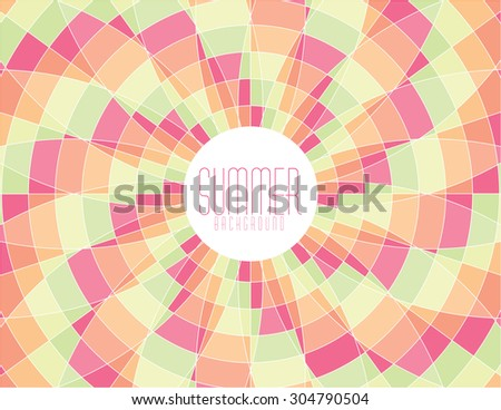 Colorful vector summer mosaic background - stock vector
