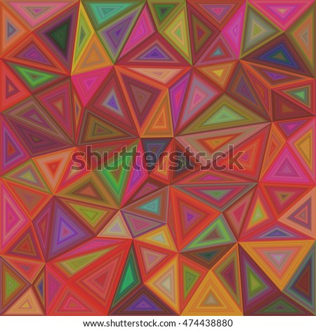 Colorful vector triangle mosaic tile background design