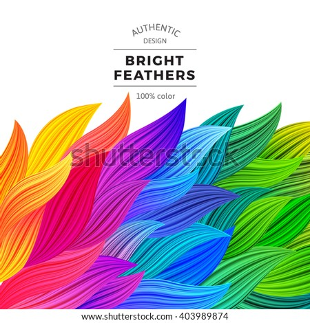 Colorful Vector Waves. Beautiful Rainbow Borders. Gradient Background. Multicolor Summer Illustration. Template Modern Graphic Concept. - stock vector