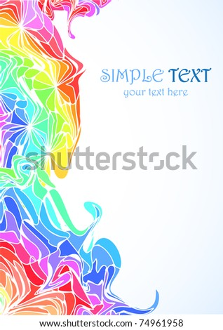 Colorful vertical abstract background. Vector. Simple text.