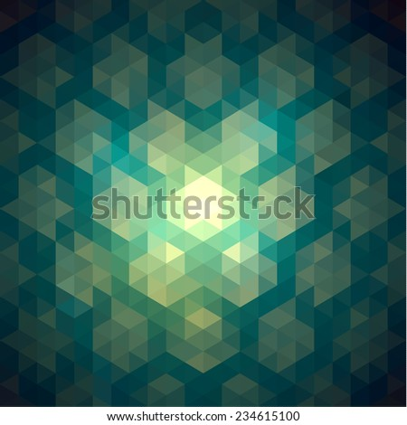 Colorful vibrant geometric background - stock vector