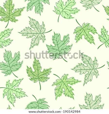 Colorful vintage maple leaves template.