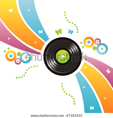 colorful vinyl record background