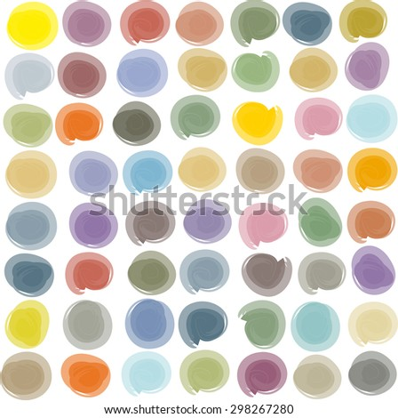 colorful watercolor brush daub paint on a white background