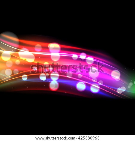 Colorful wave background or web header, Business information transfer concept