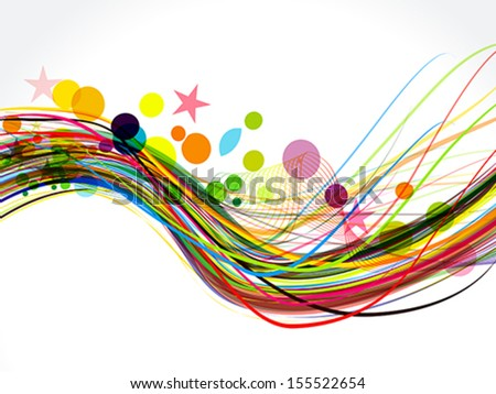 Colorful Wave Background Vector illustration