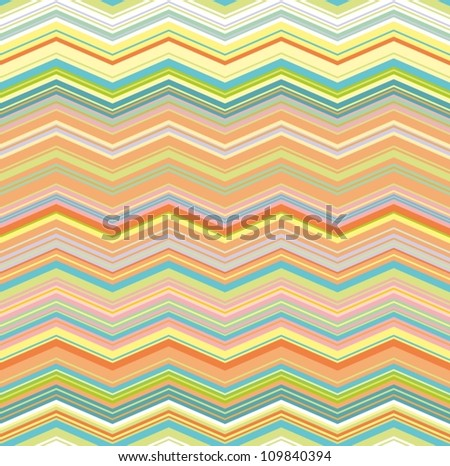 colorful wave seamless pattern - stock vector