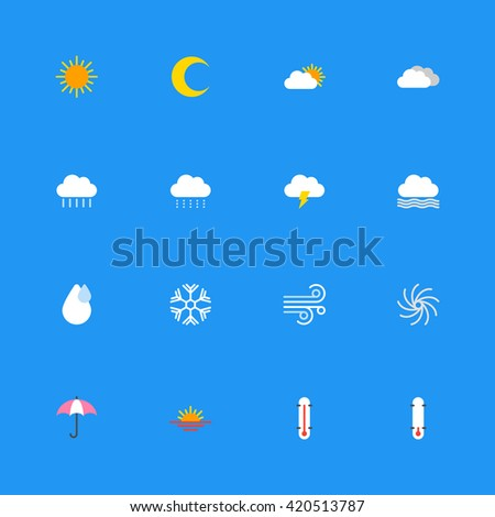 colorful weather icon set for web design, user interface (UI), infographic and mobile application (apps). vectors illustrations signs and symbols in eps jpg jpeg file format
