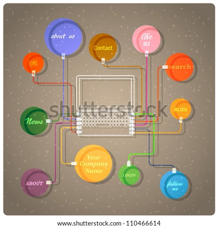 Colorful web design template. Vector eps10 - stock vector