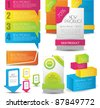 colorful web designing elements - stock vector